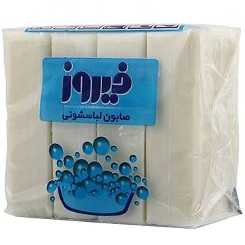 صابون لباسشویی فیروز بسته ۴ عددی