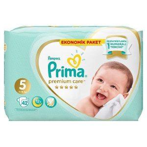 پوشک پریما ضد حساسیت سایز ۵ بسته ۴۲ عددی