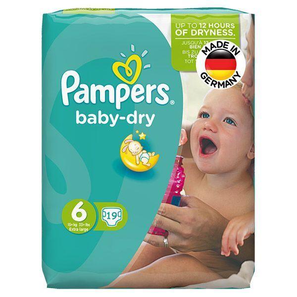 نوار بهداشتی مردانه پوشک پمپرز آلمان مدل Baby Dry سایز 6 بسته 19 عددی ...