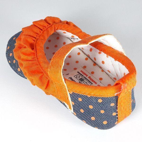 نوار بهداشتی مردانه پاپوش نوزادی کوکالو نارنجی چیندار مناسب برای 6 تا 9 ماه ...