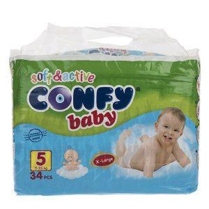 پوشک کانفی Confy سایز 5 بسته 34 عددی