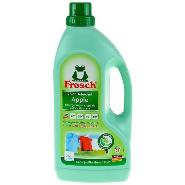 مایع لباسشویی البسه رنگی سیب Frosch