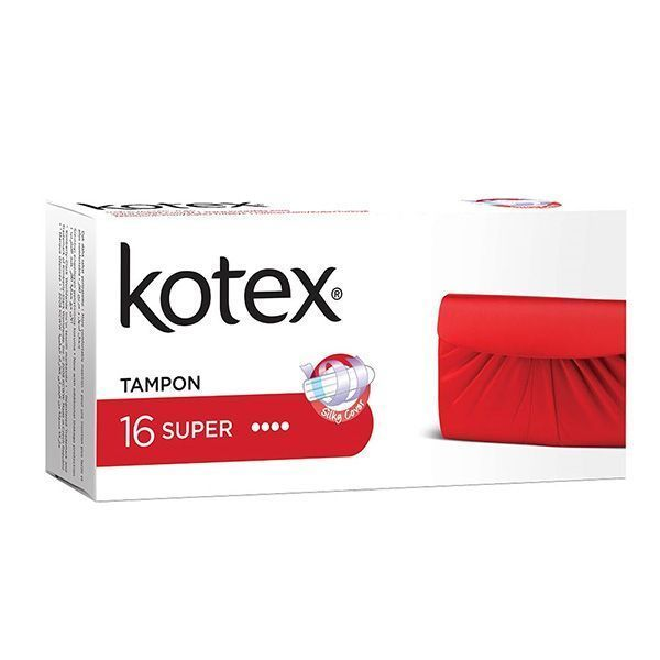 تامپون کوتکس (Kotex) مدل Super بسته ۱۶ عددی