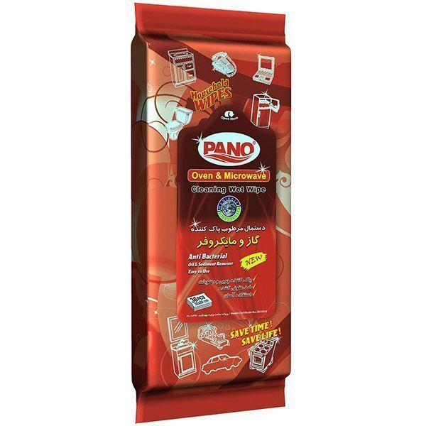 دستمال مرطوب پانو مخصوص گاز و مایکروفر بسته 36 عددی