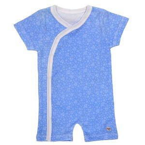 لباس سرهمی هشدار دهنده تب بيبی گلو رنگ آبی