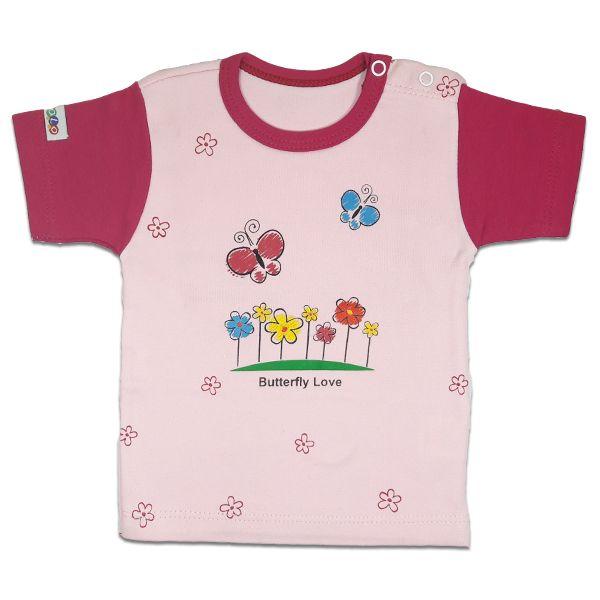 تی شرت دخترانه آستین کوتاه کوکالو (CoCaLo) طرح پروانه