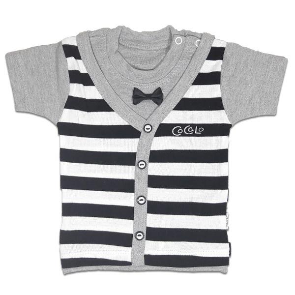 تی شرت پسرانه آستین کوتاه کوکالو (CoCaLo) طرح راه راه