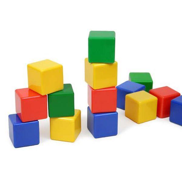 اسباب بازی مکعبهای رنگی بسته 16 عددی
