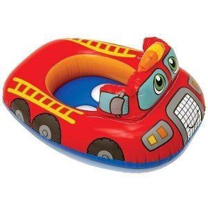 قایق بادی کودک اینتکس مدل ماشین آتش نشان