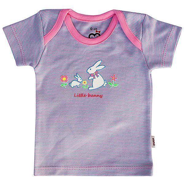 تی شرت دخترانه آستین کوتاه آدمک طرح خرگوش کوچولو
