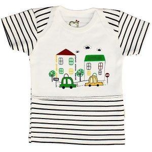 تی شرت پسرانه آستین کوتاه آدمک طرح ماشین