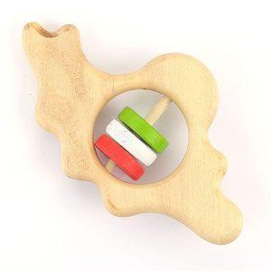 جغجغه چوبی نوزاد چوبین