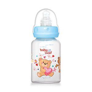 شیشه شیر پیرکس ارتودنسی بیبی لند ظرفیت 120 میلی لیتر