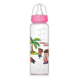 شیشه شیر پیرکس بیبی لند ظرفیت 240 میلی لیتر