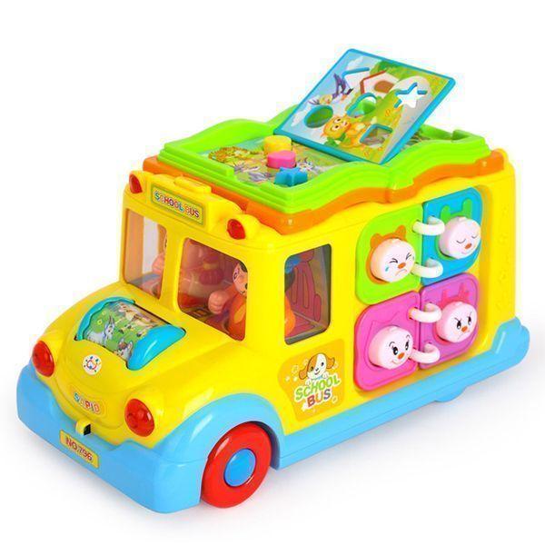 اتوبوس مدرسه موزیکال هولی تویز (Huile Toys) کد 796