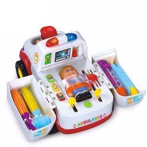 آمبولانس موزیکال هولی تویز (Huile Toys) کد 836