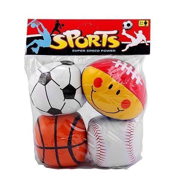 توپ بازی نرم بسته 4 عددی