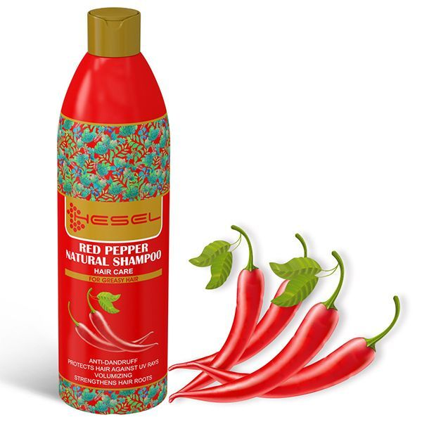 شامپو گیاهی فلفل قرمز هسل (HESEL)
