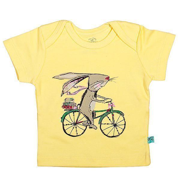 تی شرت دخترانه آستین کوتاه شابن طرح دوچرخه