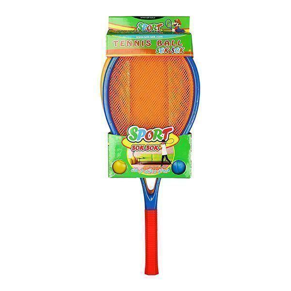 راکت تنیس 2 عددی سک سک همراه توپ