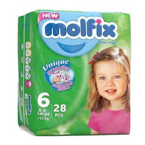 پوشک مولفیکس سایز ۶ بسته ۲۸ عددی