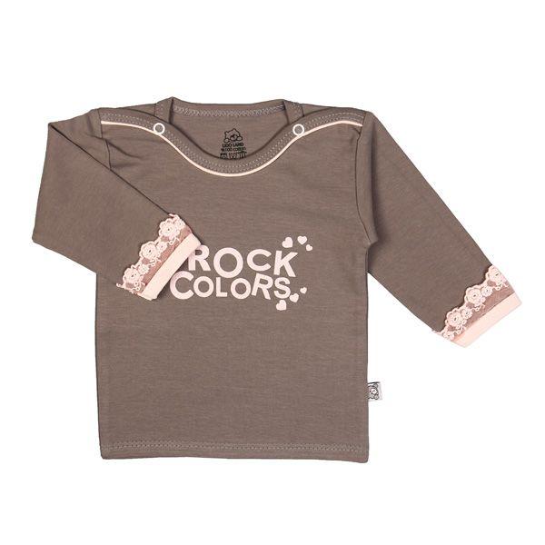 تی شرت دخترانه آستین بلند لیدولند طرح قلب و تور