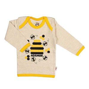 تی شرت اسپرت آستین بلند آدمک طرح زنبور