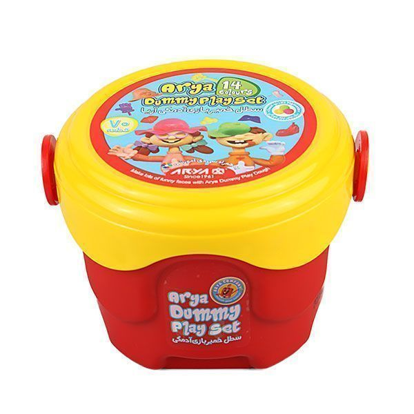 خمیر بازی آریا مدل سطلی 14 رنگ