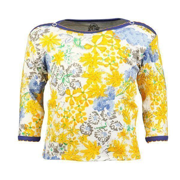 تی شرت دخترانه آستین بلند لیدولند طرح گل و ژور