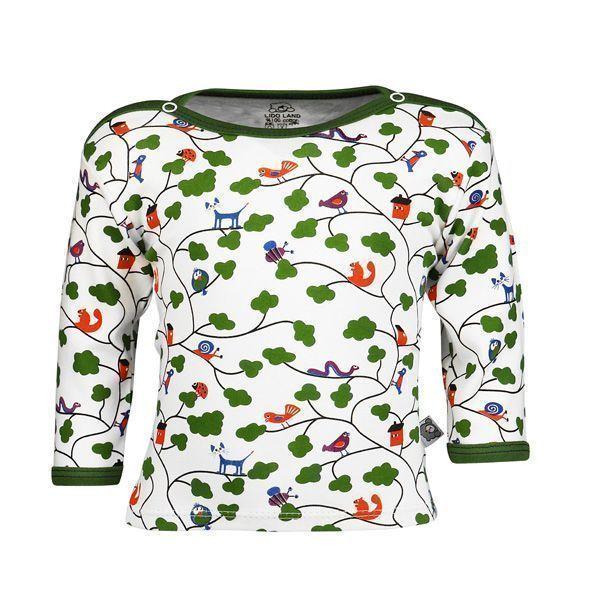 تی شرت اسپرت آستین بلند لیدولند طرح جنگل و ابر
