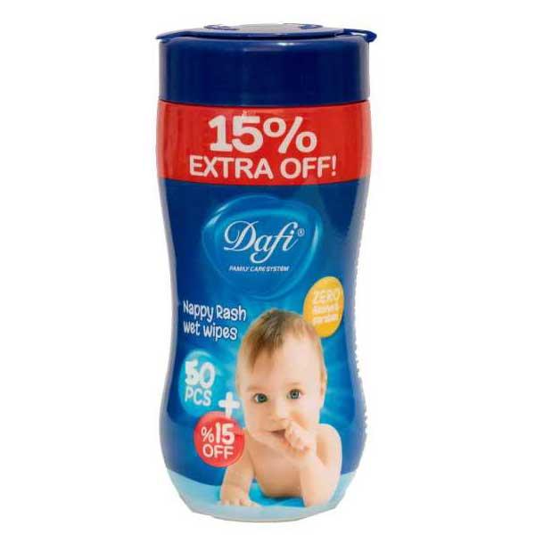 دستمال مرطوب کودک دافی استوانه ای 50 عددی