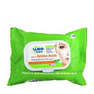 دستمال مرطوب پاک کننده آرایش وی کر میکس آمینو اسید