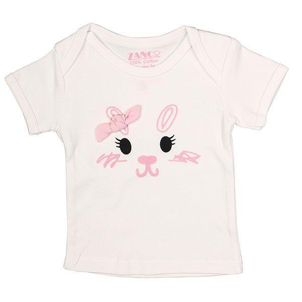 تی شرت دخترانه آستین کوتاه زانکو طرح خرگوش