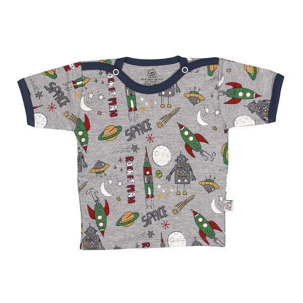 تی شرت پسرانه آستین کوتاه لیدولند طرح سفینه