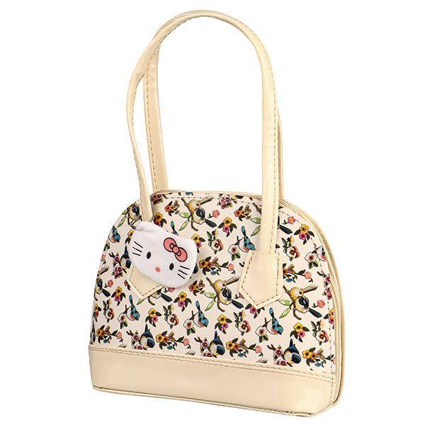 کیف دستی بچه گانه زیپی طرح گل و پرنده