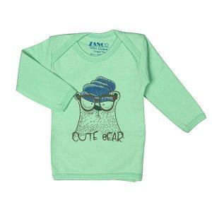 تی شرت اسپرت آستین بلند زانکو طرح خرس بامزه