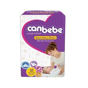 زیرانداز تعویض نوزاد جان به به (Canbebe) بسته ۱۰ عددی
