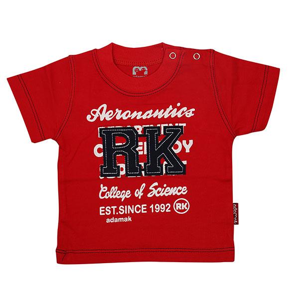 تی شرت پسرانه آستین کوتاه آدمک طرح RK قرمز