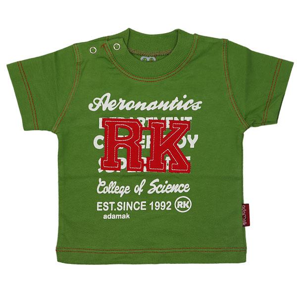 تی شرت پسرانه آستین کوتاه آدمک طرح RK سبز