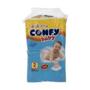 پوشک کانفی (Confy) سایز 2 بسته 52 عددی