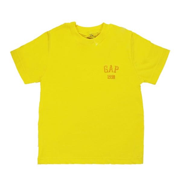 تیشرت اسپرت آستین کوتاه تاپ کیدز طرح Gap زرد