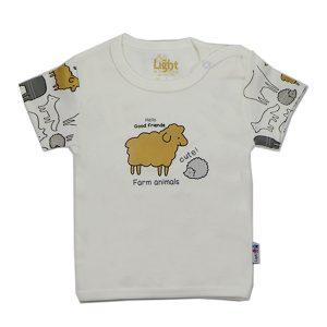 تی شرت اسپرت آستین کوتاه لایت طرح حیوانات