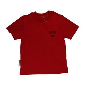 تیشرت اسپرت آستین کوتاه تاپ کیدز طرح Gap قرمز