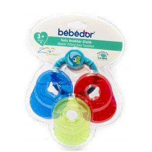 دندانگیر مایع دار به به دور bebedor بسته 3 عددی همراه آویز کد 523