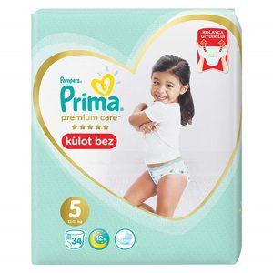 پوشک شورتی پریما ضد حساسیت سایز ۵ بسته ۳۴ عددی