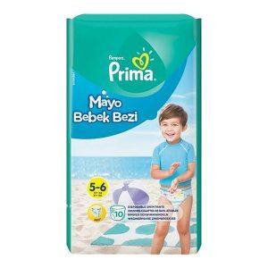 پوشک استخری پریما سایز ۵ - ۶ بسته ۱۰ عددی