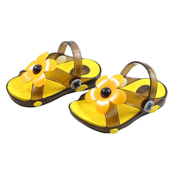 صندل بچه گانه پاپا مدل شادی زرد