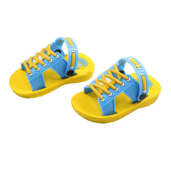 صندل بچه گانه پایون مدل کیاشا زرد-آبی