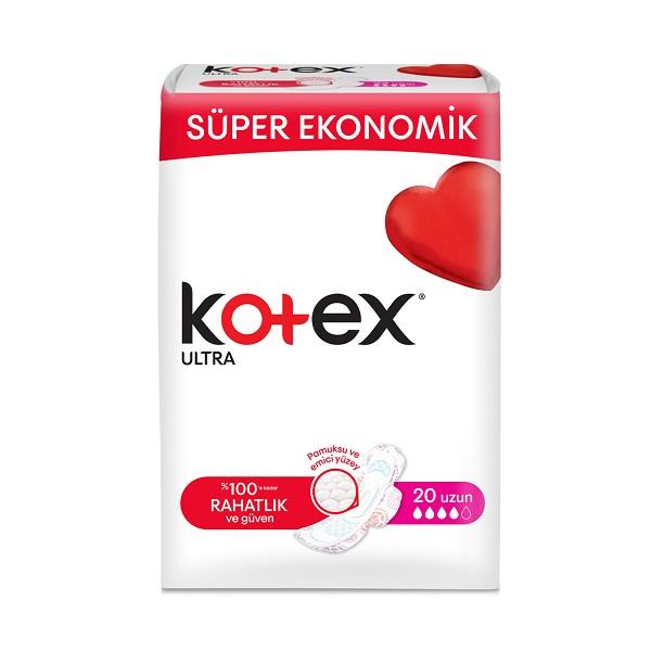 نوار بهداشتی قطر نازک Kotex سایز بزرگ 20 عددی
