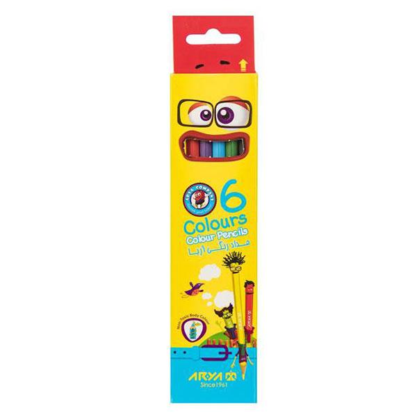 مداد رنگی آریا 6 رنگ کد 3011